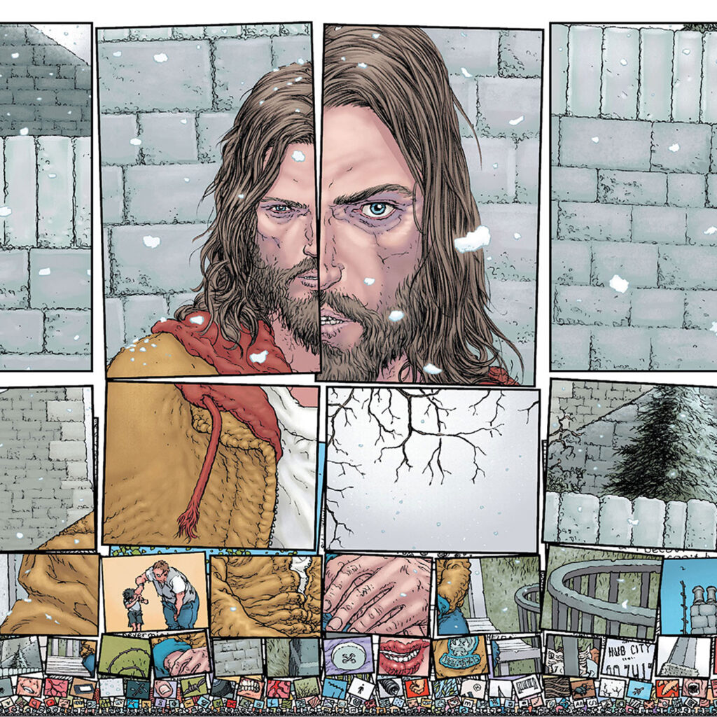Morrison, Grant; Quitely, Frank; Doherty Peter; Fairbairn, Nathan. 2014. Pax Americana (2014) #1. New York: DC Comics, 37